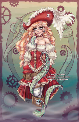Red Headed Pirate Girl