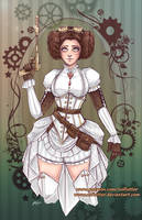 Steampunk Leia by NoFlutter