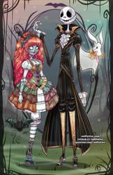 Dapper Jack and Lolita Sally by NoFlutter