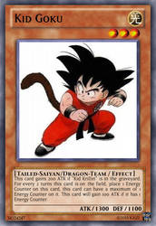 Kid Goku - Dragon Ball Yu-Gi-Oh! card