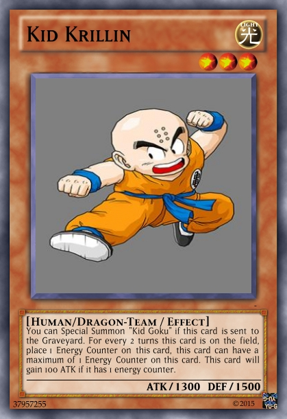 Kid Krillin Dragon Ball Yu-Gi-Oh! card by MarkDBZRiderFanFTW