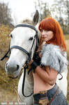 Barbarian with her horse