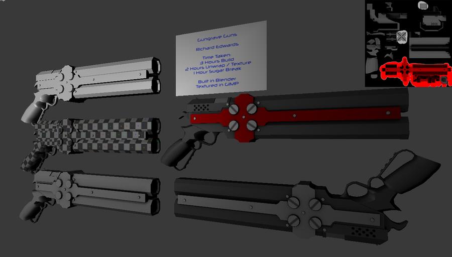 Gungrave 3D model by SurvivorReds on deviantART Gungrave Cerberus Guns