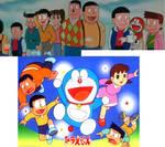 Nobita, friends and kids