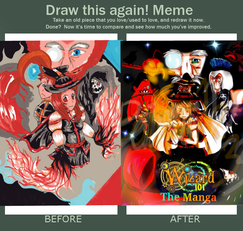 Draw this again! Meme - Wizard101 Manga Cover