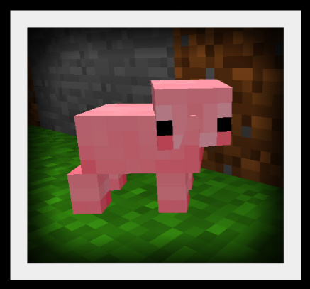 Baby Pig: Minecraft Style by Caitybee