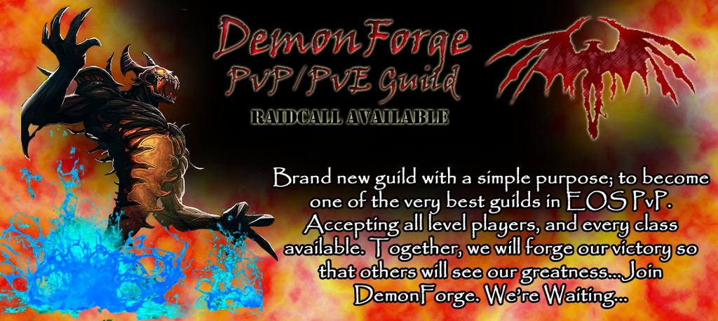 DemonForge Guild Banner by Caitybee