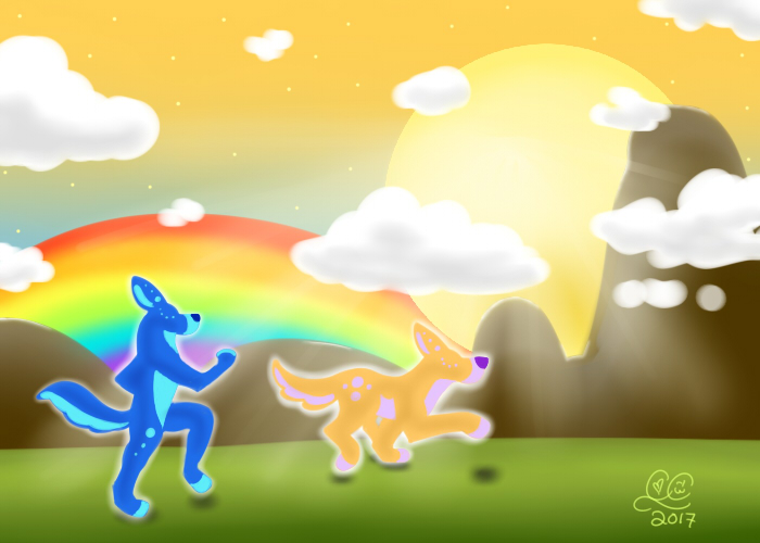 Nytal and Lyrika: Running Free by Caitybee