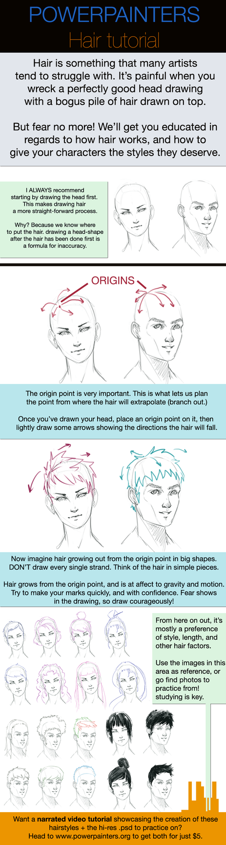 How to draw hair by Taylor-payton