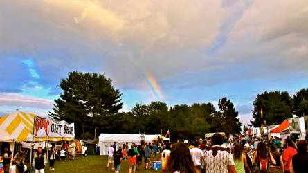 Rainbow over Festival by eescorse