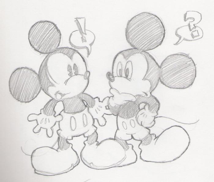 Mickey Meets Mickey by Purp1eDragon