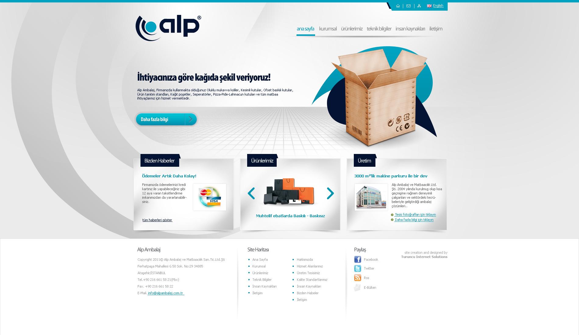 Alp Ambalaj Web Design by ThanRi