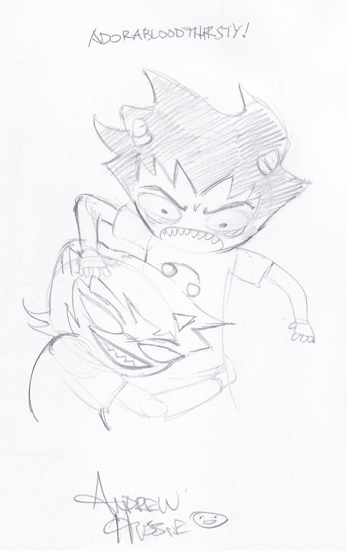 Free Sketch From Andrew Hussie By Seiyaku On Deviantart