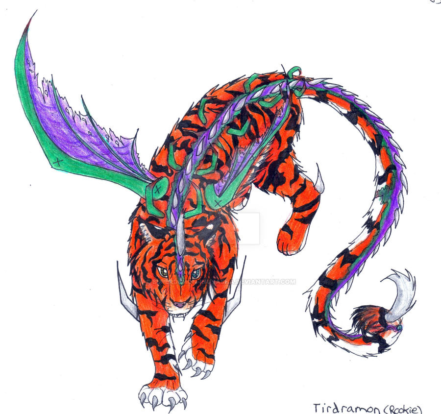 Digimon Forms:Tirdramon-Rookie By Superdemon-Inuyasha On