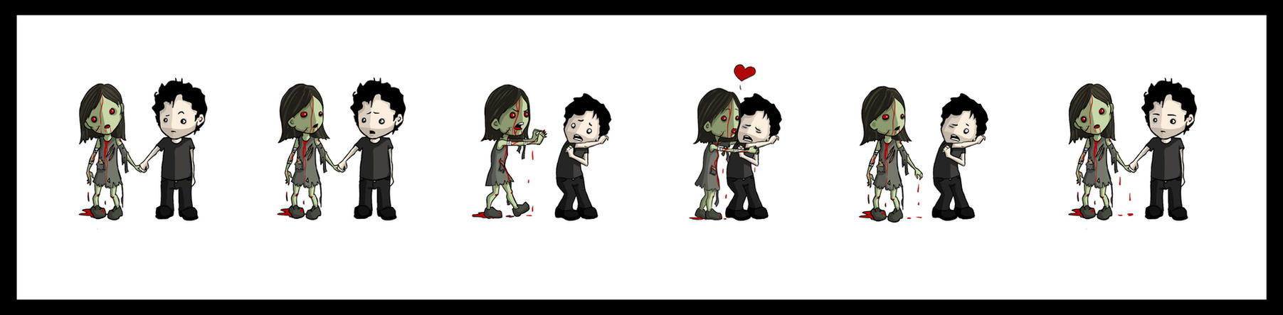 Zombies need love. by evileherbivore