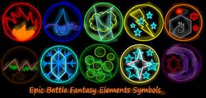 Epic Battle Fantasy Elements Symbols from Kupo707