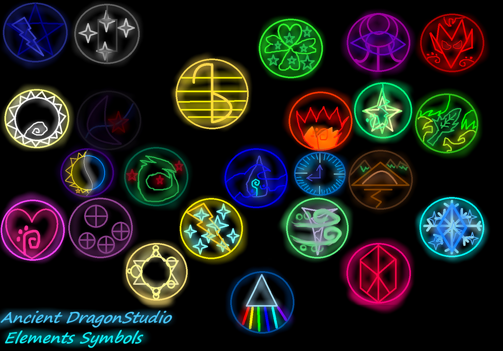 List The Elements Of Art : My elements symbols by kristaldragons on deviantart