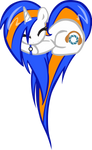 DJ-GlaDOS OC Heart Pony