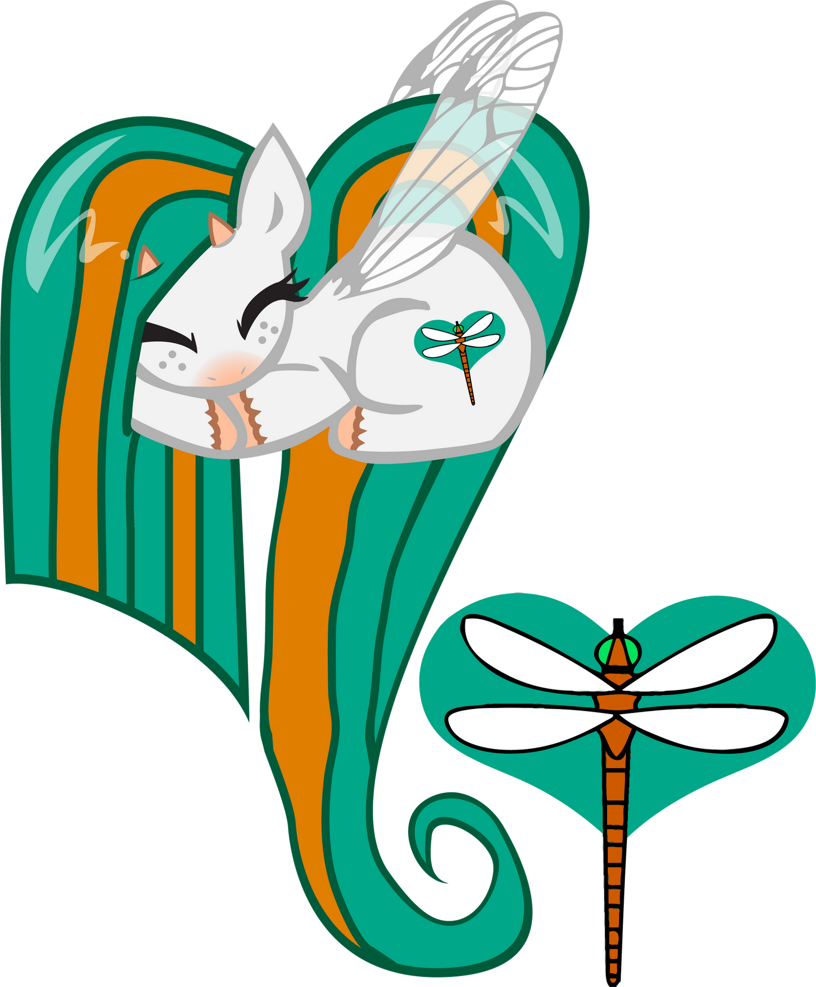 DamselFly OC Heart Pony by pyrestriker