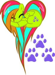 Bonus! Emeowrald OC Heart Pony! by pyrestriker