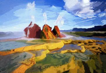 Black Rock Geyser by pyrestriker