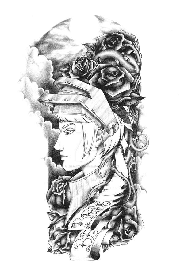 Fantasy sleeve black and grey by blackmonchichi on deviantart
