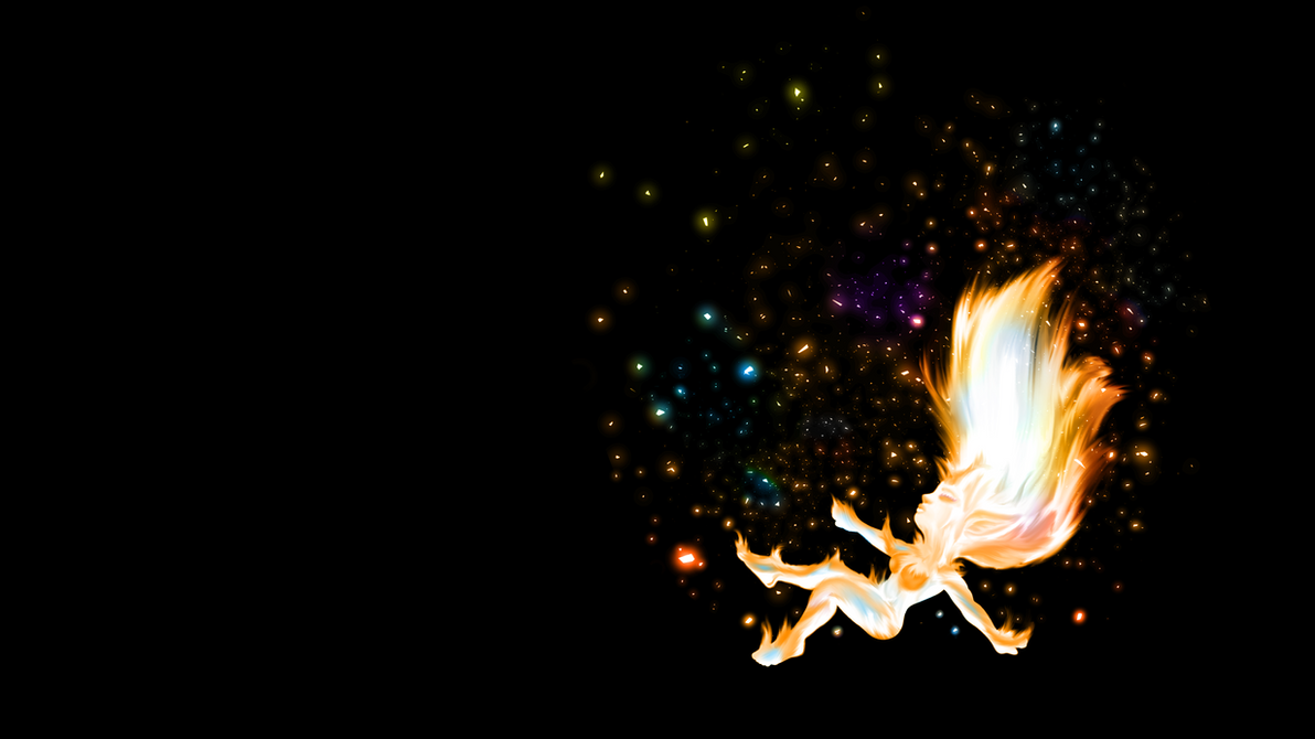 Blazing Flame Chick Chibi Wallpaper by WerewolfPuppy