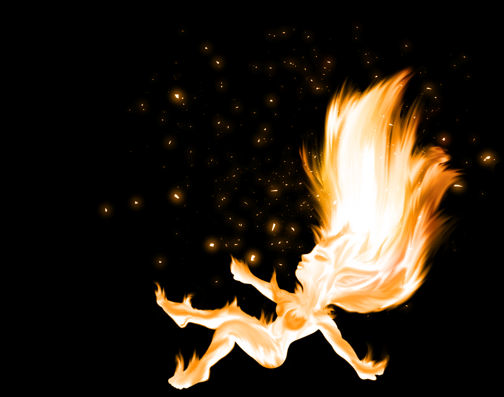 Blazing Flame Chick Chibi by WerewolfPuppy