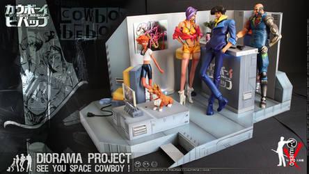 Cowboy Bebop Diorama 01 by ogamitaicho