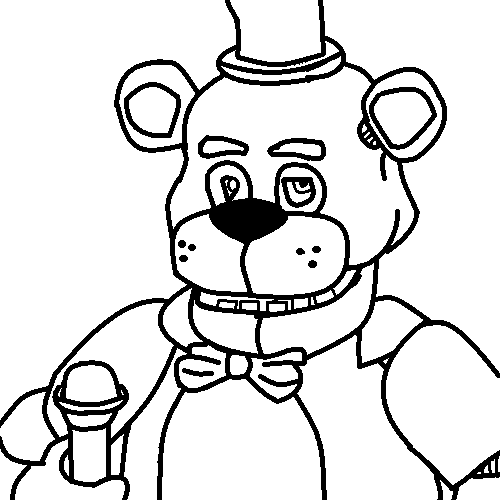 Freddy the bear free colouring pages for Freddy coloring pages