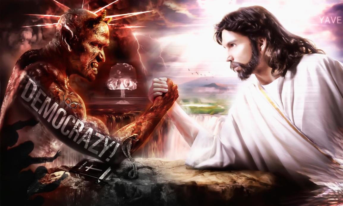 Jesus Vs Devil Arm Wrestle   www.imgkid.com - The Image ...