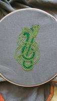 Viking Dragon Embroidery