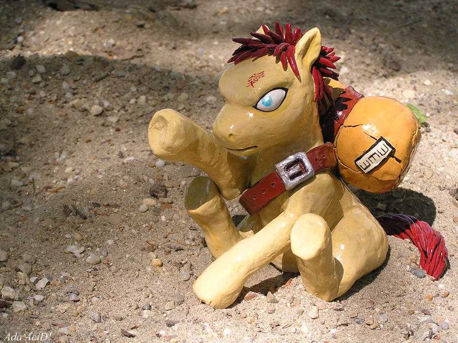 Sabaku no Gaara, the pony of doom by NeoNBlacKHearTAttacK