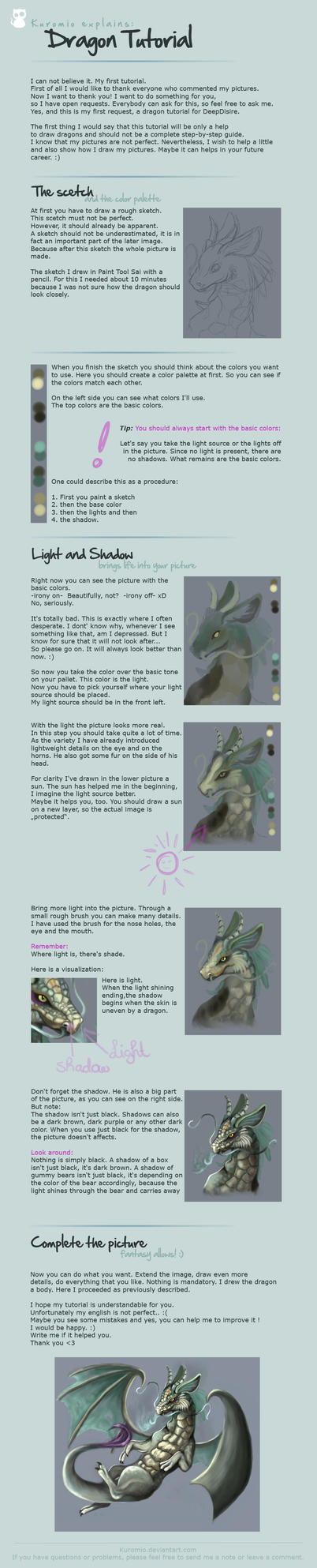 How to - Dragon Tutorial by Kuromio