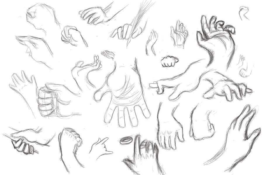D Line Drawing Hand : Hands gesture sketch by swiftsaber on deviantart