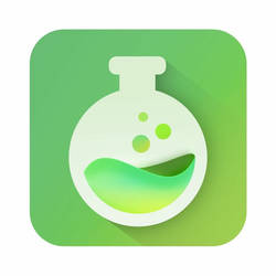 Chemistry Flask Icon by macduy