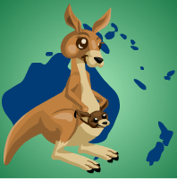 kangaroos by purpleandgreenjewl