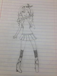 Random girl by purpleandgreenjewl