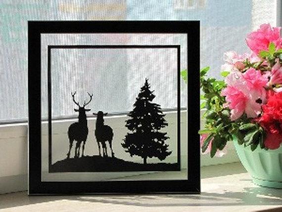 Deer Couple Handmade Original Papapercut by DreamPapercut