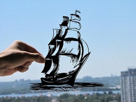 Ship Handmade Original Papercut By DreamPapercut On DeviantArt