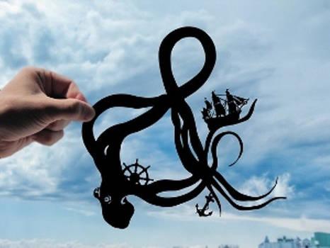 Octopus Ampersand Handmade Original Paper Cut