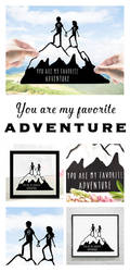 Gift for Travellers Wedding Travel Gift Hiker Gift by DreamPapercut