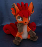 Vulpix Pokemon plush by adamar44