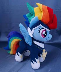 Rainbow Dash as Zapp MLP plushie by adamar44