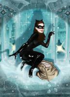Catwoman (Adam Hughes Homage) by amatuerpornstar69