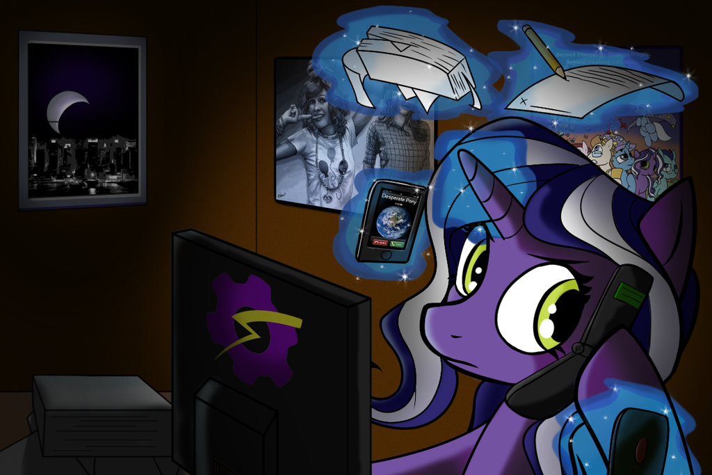 Purple Tinker, Hard at Work by Acesential