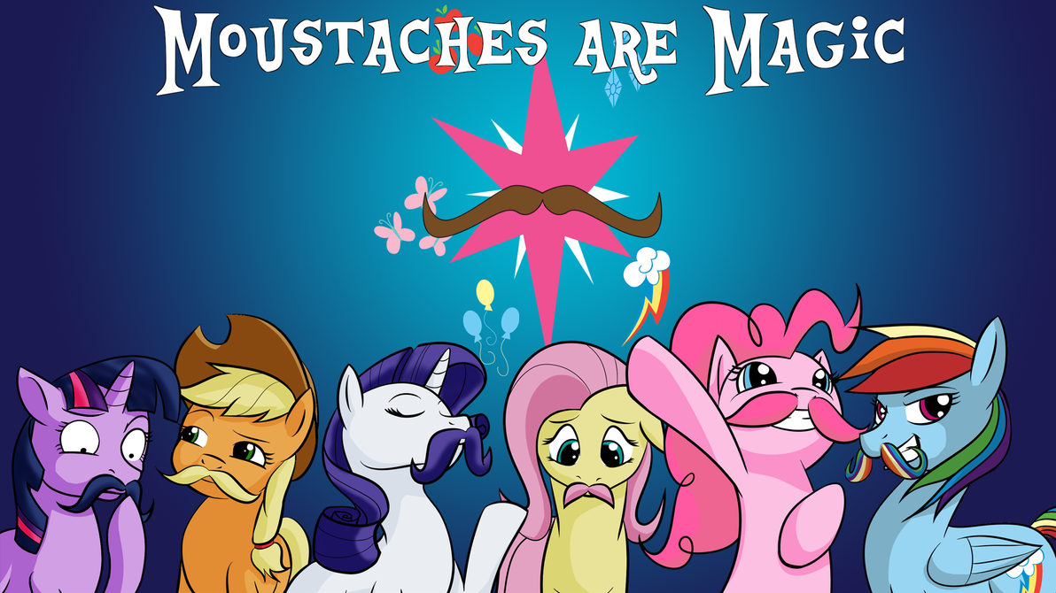 moustaches are magic wallpaper edition by acesential on deviantart