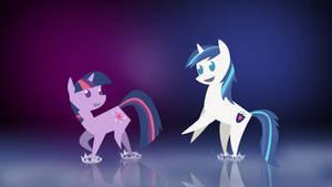 Twilight Sparkle and Shining Armor