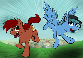 Penn and Webley: The Daring Escape from Ponyville! by Acesential