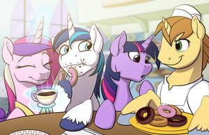 Hitting up Pony Joe's Donut Shop
